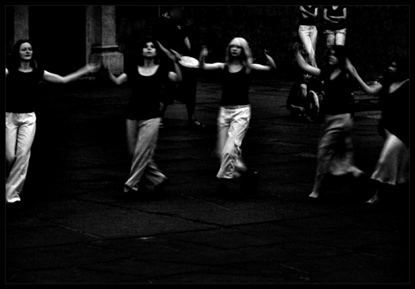dancing in the night street