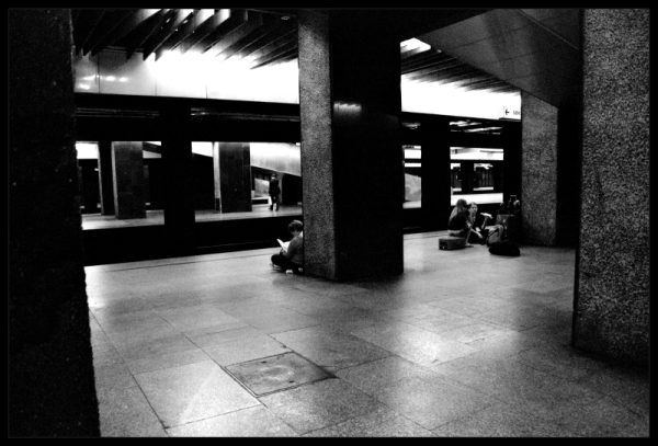 waiting for the late train