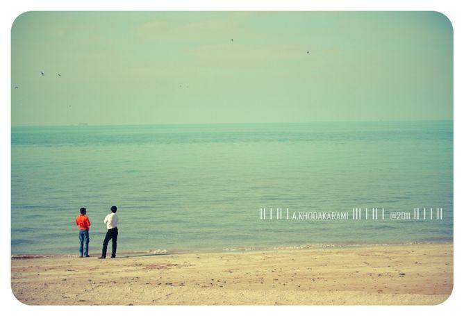 friend bushehr iran sea beach