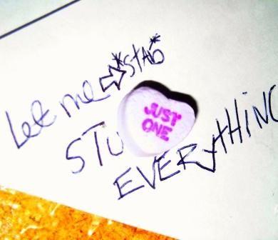 candy heart valentine valentines day purple