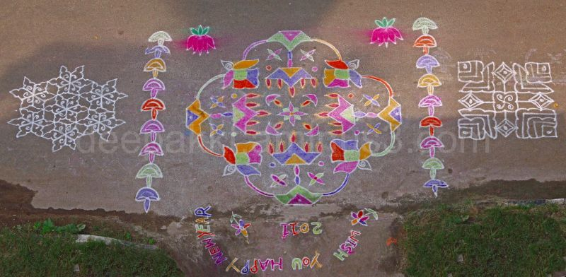 New Year 2011 - Kolam at our house