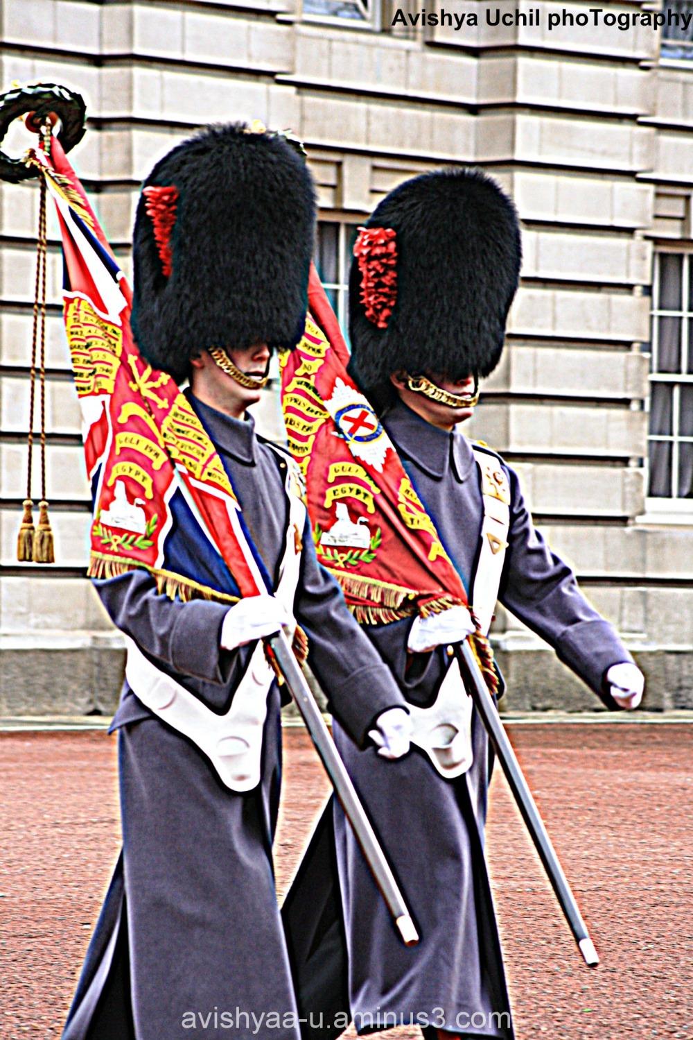 Bobbies -Change of Guard at Buckingham Palace