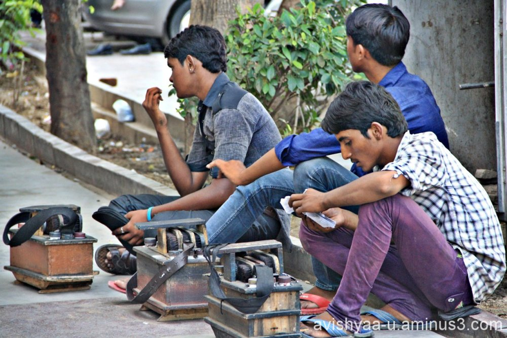 Shoeshiner in Delhi