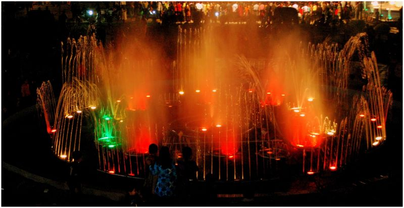 Water fountain at Traffic Park ,Nagpur