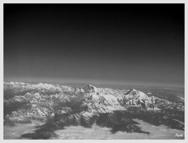 In-flight view of the Himalayas...