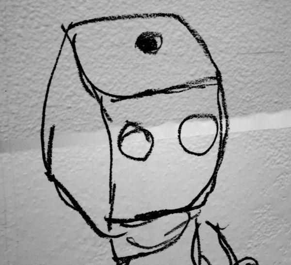 Robo on wall