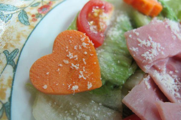 Heart. Flower. Parmesan. Salad :)