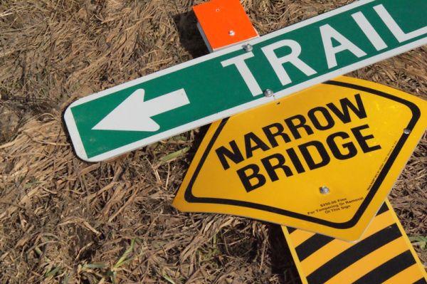Fallen Trail, Narrow Bridge