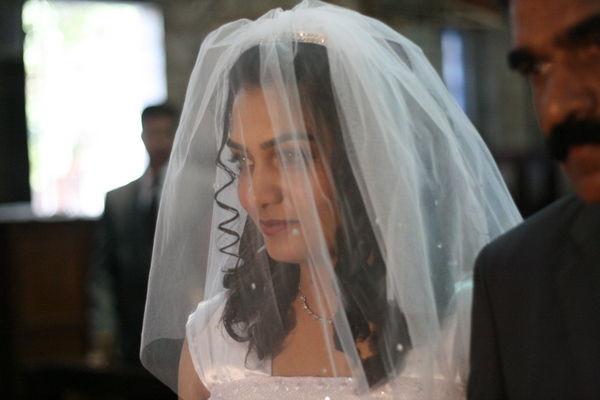 The bride arrives