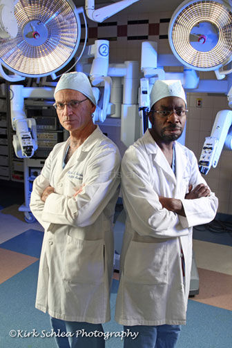 Cardiac doctors in operating room