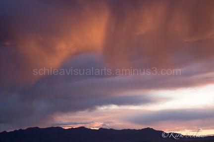 Sunset over the Newberry Range, NV