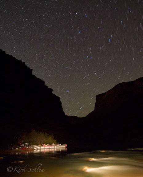 Time exposure in the Grand Canyon