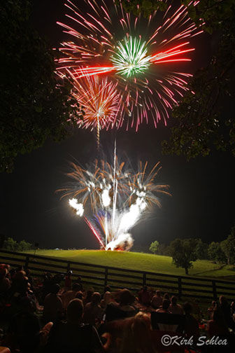 Annual fireworks show at Holman Ranch