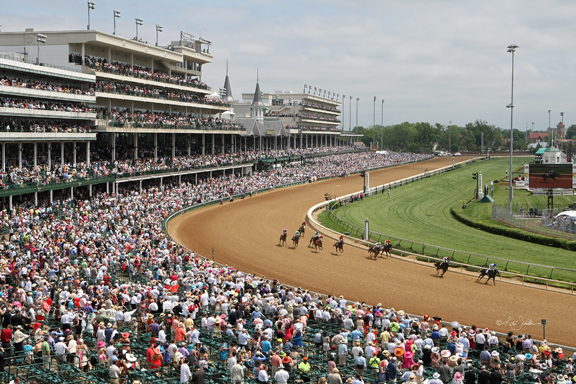 "1st Turn on ""Derby Day"" - Kentucky Derby"