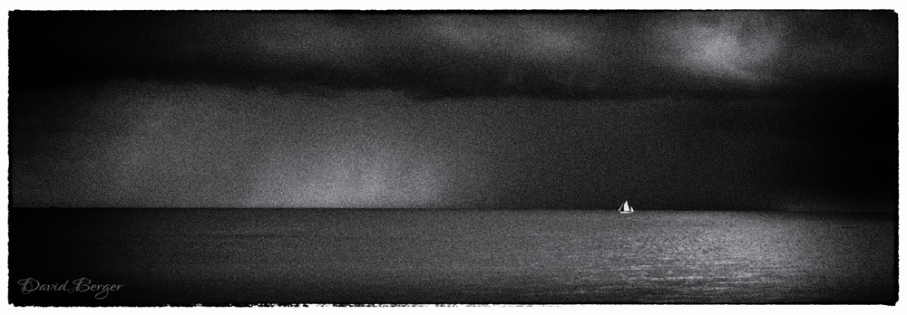 there's a storm a comin' - b&w