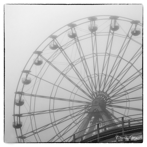 wheel in the mist