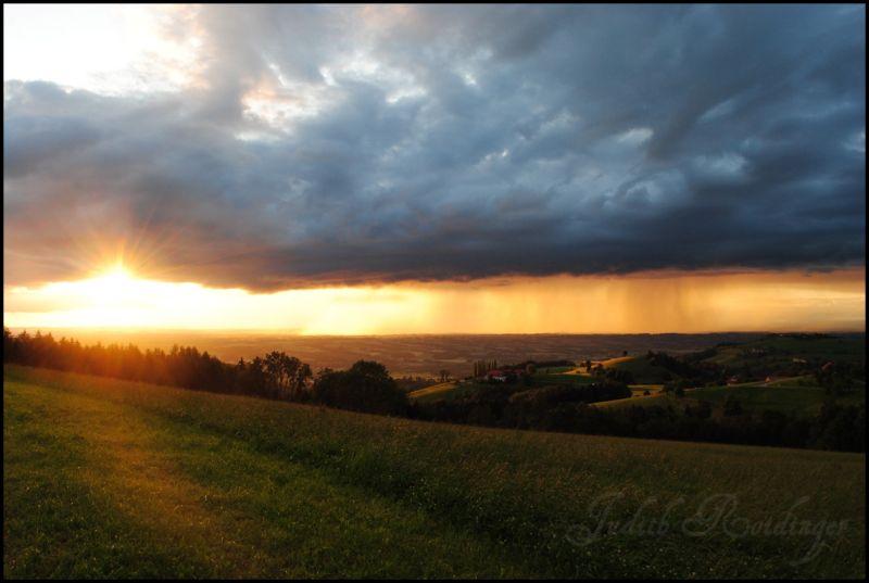 After a rainstrom in Oberschlierbach/Austria