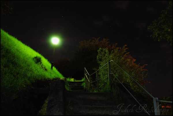 stairs by night