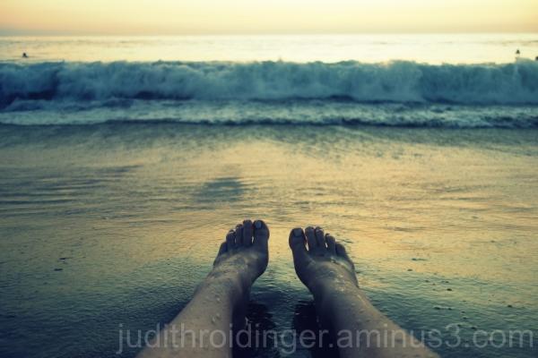 Ocean tickling my feet