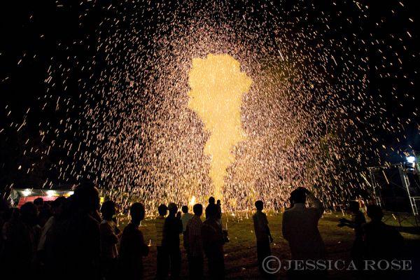 Celebrations at a Tai Yai temple