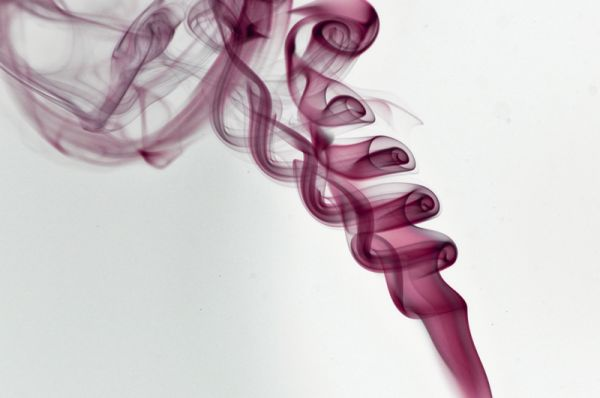 Insence smoke close up