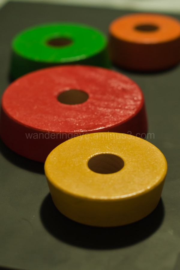 wooden toy circles