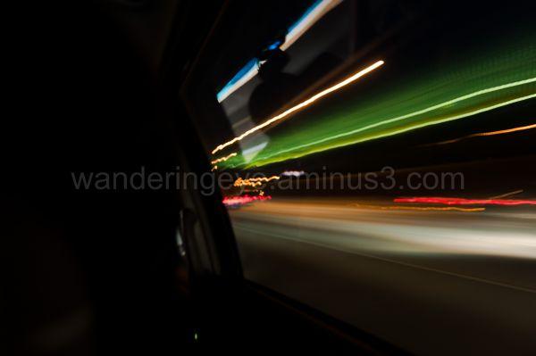 Freeway from inside a van