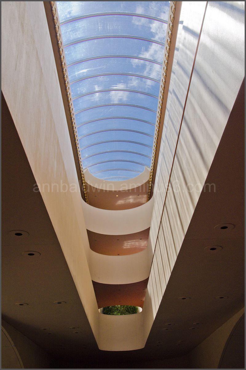 Glass roof of Marin Civic Center, San Rafael, CA