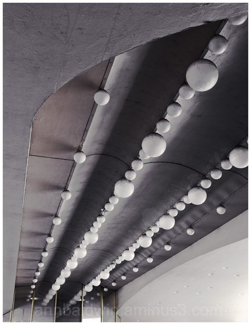 Roof of exterior arch with light bulbs