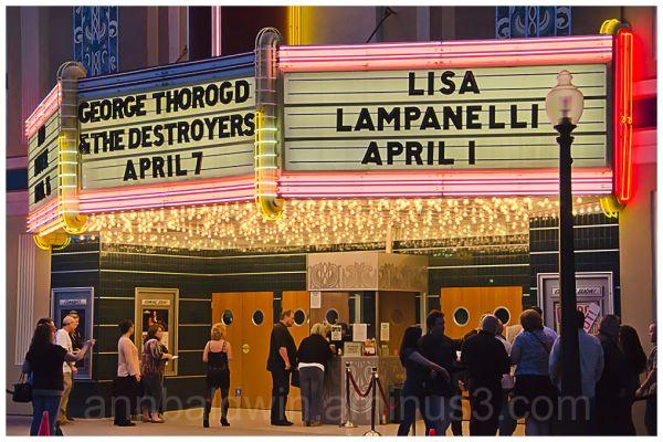 Saturday night at the Uptown Theater, Napa, CA