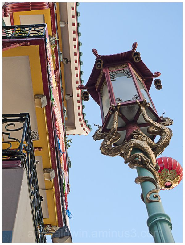 Chinatown architectural ornamentation detail