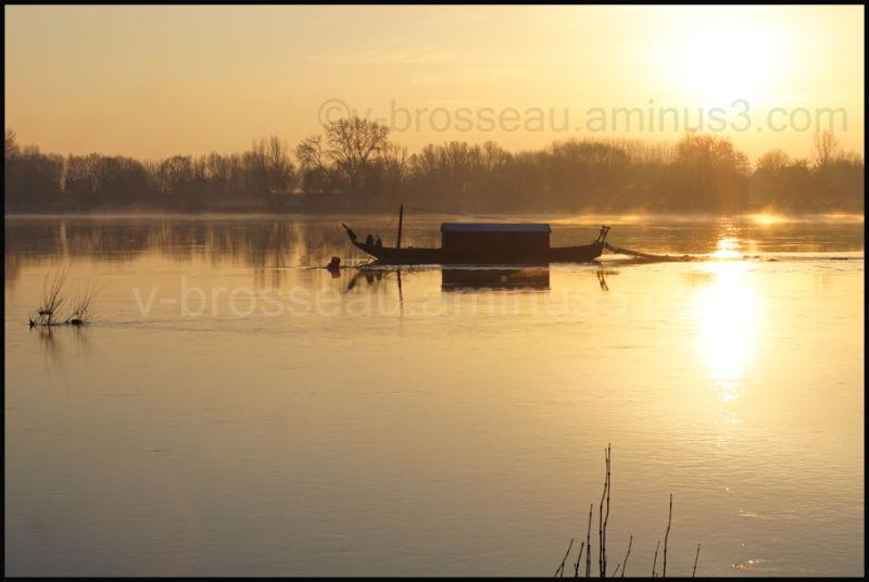 Bateau (toue cabanée) sur la Loire