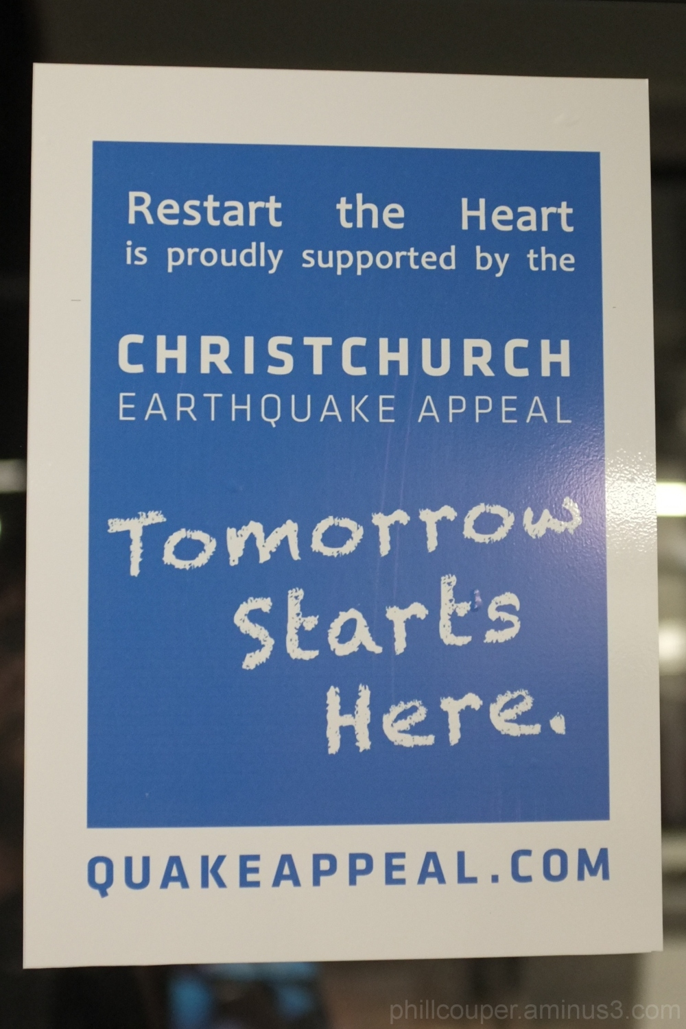sign christchurch earthquake heart of the city