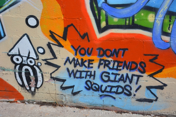 Graffiti Squid @ Kensington Market Toronto