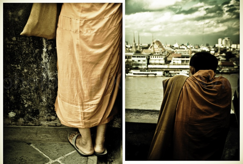 Wat Arun,Monk,Bangkok,Thailand,Buddhist