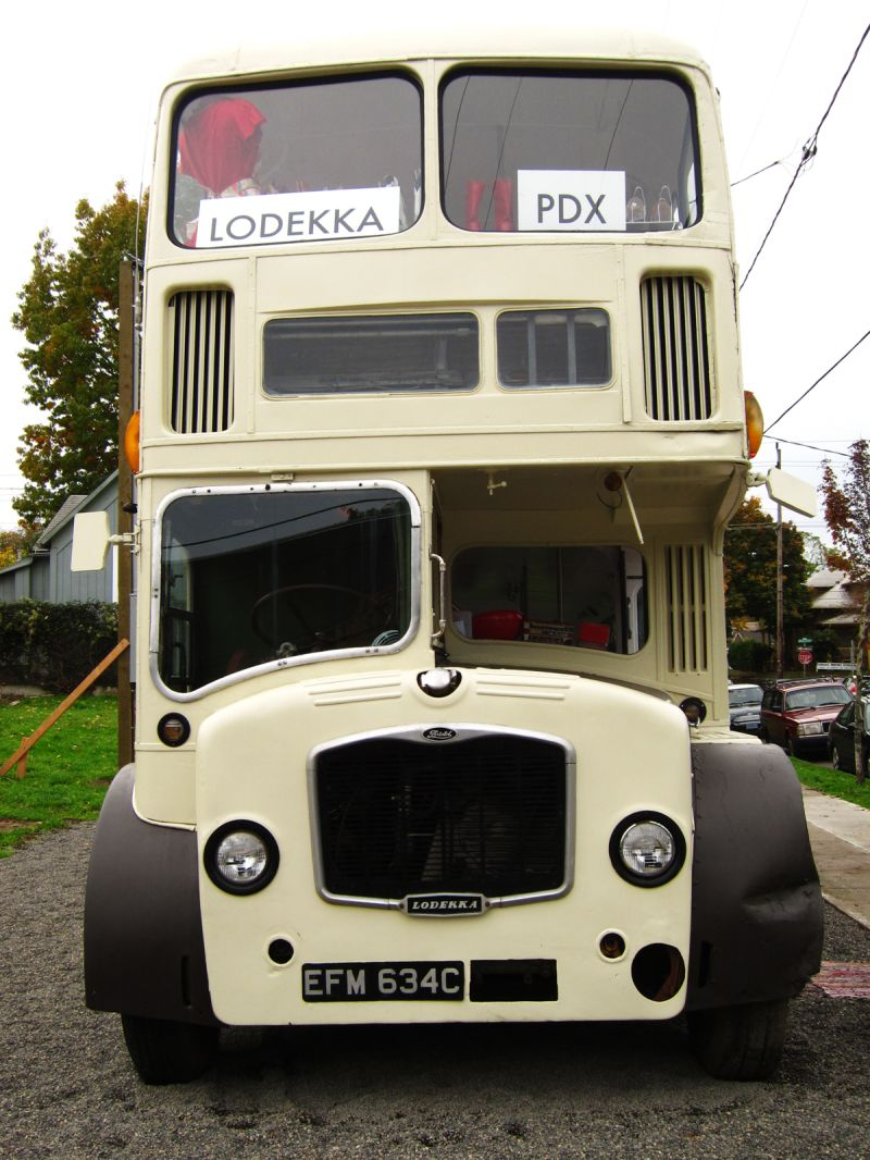 Lodekka bus in Portland