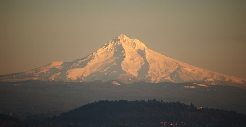 View of Mount Hood from Portland