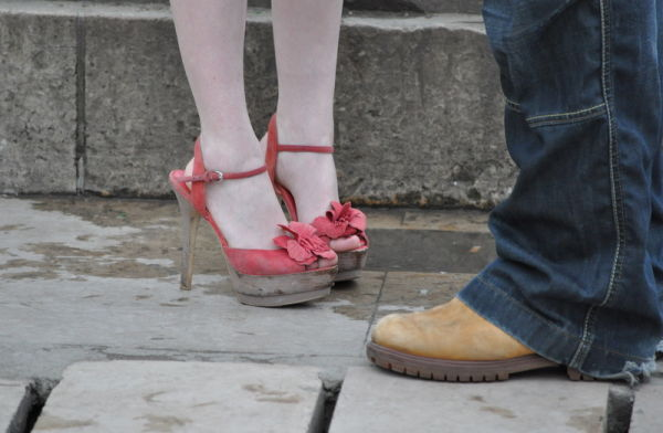 Shoes in love .