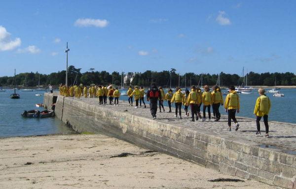 Les petits mousses de l'ile Tudy ( marée basse) 1.