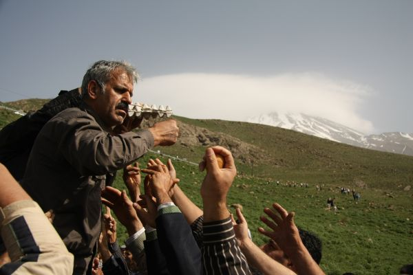 snow burial celebrate  in Damavand.Iran