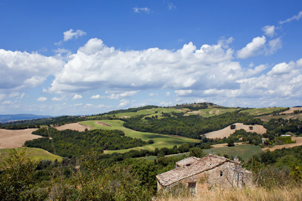 The gentle hills of Umbria