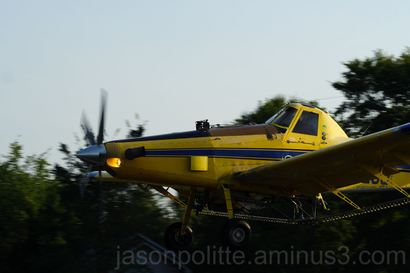 Air Tractor N602SQ Crop Duster Flies Slow and Low