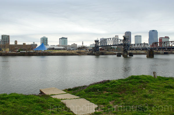 View of downtown Little Rock from across the river