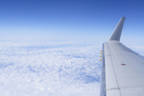 On the wing of a Embraer RJ145