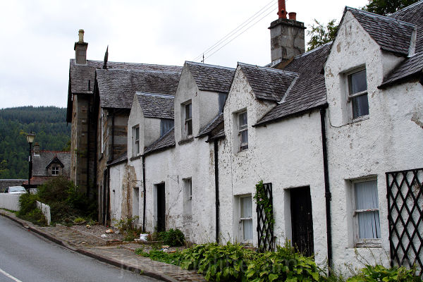 Row of Attached Houses in Kenmore Scotland