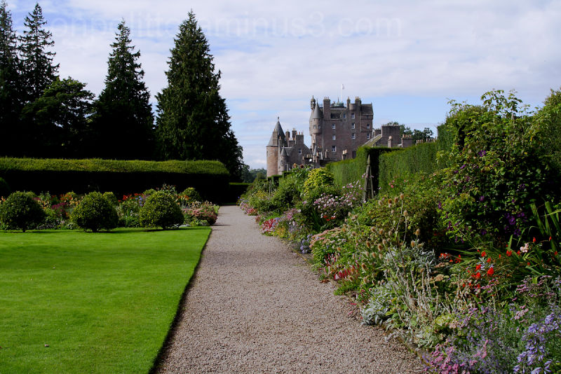 Garden with Glamis Castle in the background