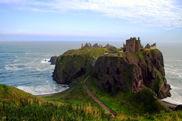 The formidable Dunnottar Castle in Scotland