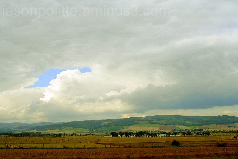 Cumulus over the Scottish countryside