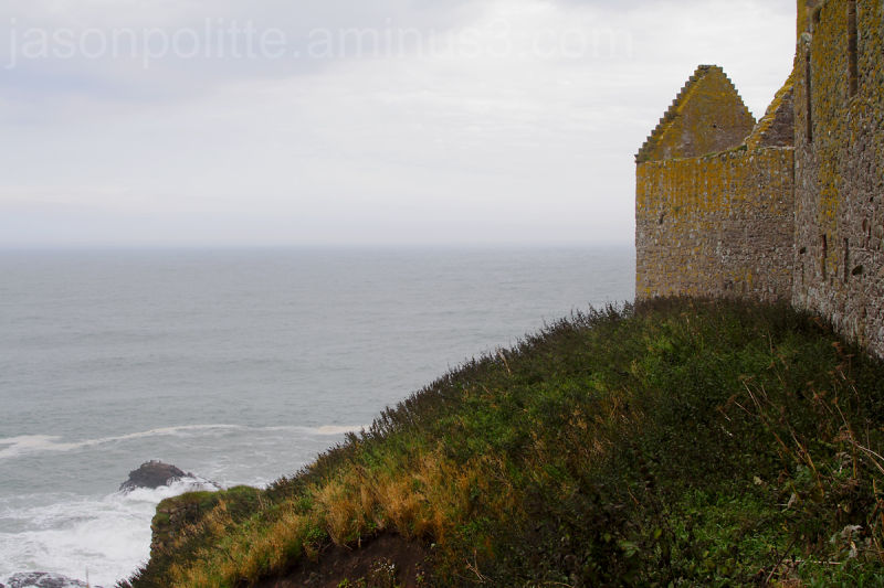 Looking across the North Sea from Dunottar Castle