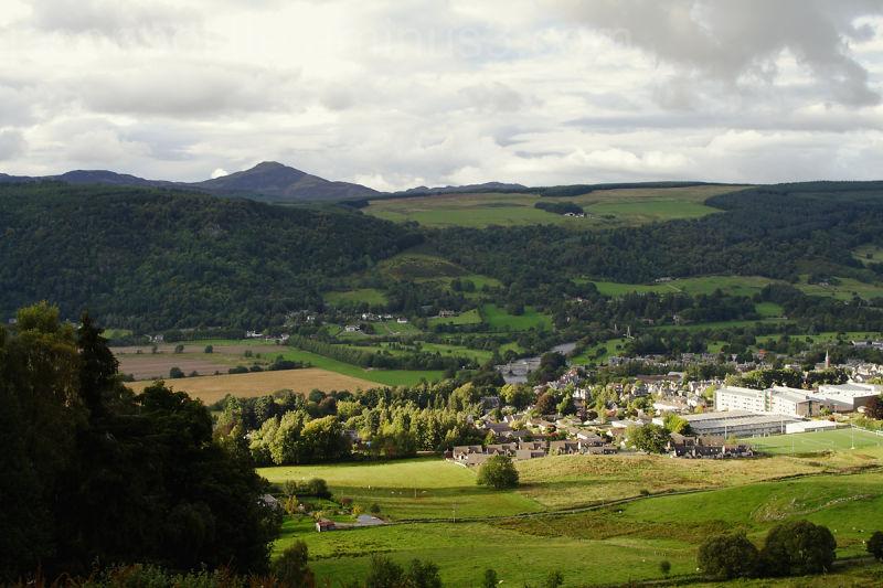 Aberfeldy, Scotland seen from above